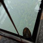 Glass floor gondola car