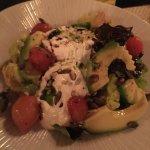 burrata salade (burrata was werkelijk fantastisch!)