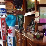 Bar view, eagle is Starved Rock beer (made by Leinies I think)