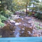 The brook at Brookside Motel.