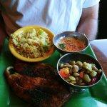 Blackened Trigger Fish, Rice and Succotash