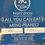 all you can eat, lunch = 11,90 €