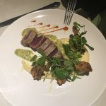 Best dishes on the island, Diver Scallops and seared tuna with Smokey Mash potatoes!