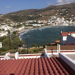 View of the resort of Batsi from a balcony, Mare Vista Hotel, Andros
