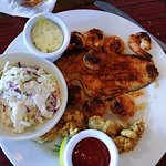 Blackened Seafood Platter (Shrimp, Scallops, Founder & Oysters)