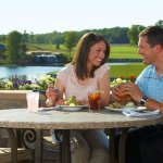 Score the best seat in the house on our patio overlooking our championship golf course.