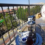 Fresh apple tea with a view!