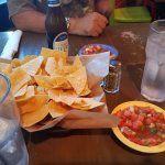 Chips and salsa and ice cold beer