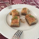 One portion of freshly cooked baklava - delicious!