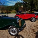 Nice Antique MG-TDs visiting