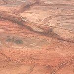 the red Kgalagadi (Kalahari) sands (aerial photograph)