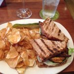 Salmon BLT and Chips