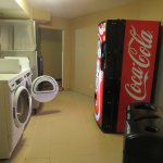 washer, dryer and soda machine