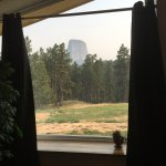 View of Devil's Tower from our room