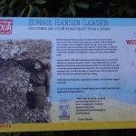 Garden history display sign.