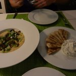fava beans and tzatziki, both were excellent!