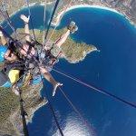 Paragliding. Вид на пляж с двух км