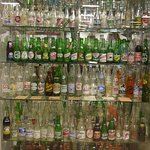 A huge display of old bottles and the curator knows the details on every bottle!