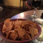 my chips and wine