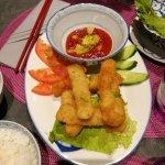 Croustillant de poisson aux ananas à la sauce aigre-douce