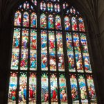 Beautiful stained glass window, Gloucester Cathedral
