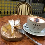 LOVELY lemon cake & great coffee from genuinely friendly staff.