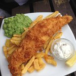 Fish and chips. real chips