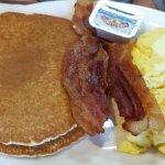 Beach Boy, 2 pancakes 2 eggs 2 bacon.