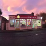 Beautiful sunset behind the shop Christmas 2016
