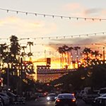 OLD Town Scottsdale as the sun is setting