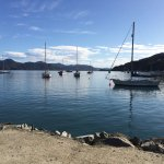 Looking out to the Marlborough Sounds from the Waikawa Marina.