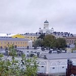 View of Helsinki cathedral from Uspenskin