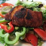 Salad with Blackened Salmon