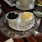 blackberry jam and clotted cream.