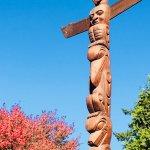 Totem poles in Stanley Park.