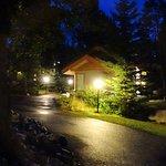 Bungalow at night