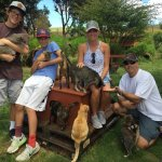 """Our family with the """"Lions of Lanai"""""""