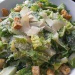 Ceasar Salad, really good and HUGE!