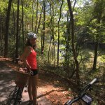 Enjoying Callaway Gardens Bike Trail, here near Hummingbird Lake