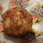 Just a crab cake, they are good!