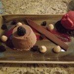 Complimentary dessert at the restaurant...