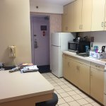 Kitchen in 2BR suite - fully stocked with pots/pans/utensils