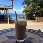 Iced coffee on their porch-spectacular view!