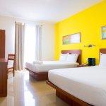 Habitaciones de hasta 26 m2 con 2 camas matrimoniales o 1 king size