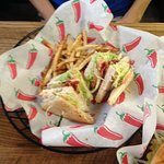 Bacon Ranch Turkey Club with Garlic Parmesan Fries