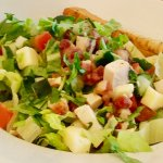 GREAT half portion of chopped salad - delicious!