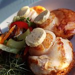 Big juicy scallops for entree