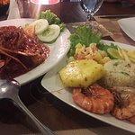 Crab and prawns dish at Trax Garden