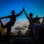 Yoga class in Villa Borobudur Resort