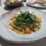 Chevin goat's cheese & spinach ravioli